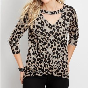 Maurice's leopard top